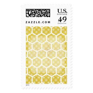 Bright Modern Geometric Honeycomb Design Stamps