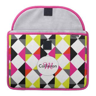 Bright Modern Geometric Pattern Personalized MacBook Pro Sleeves