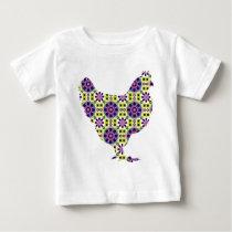 Bright modern hen baby T-Shirt