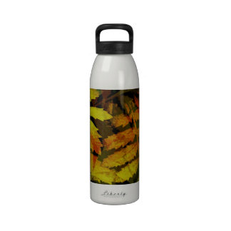 Bright Modern Leaves Abstract Pattern Drinking Bottles