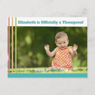 adoption announcement postcards zazzle