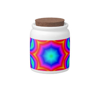 Bright mosaic colored pattern candy jar