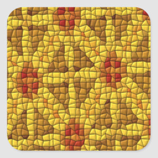 Bright mosaic colored pattern square sticker