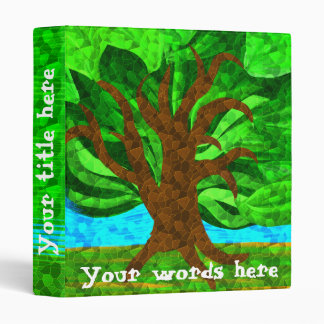 Bright mosaic tree binder