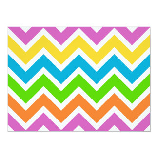 Bright Multi Color Chevron 5.5x7.5 Paper Invitation Card