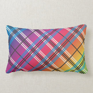Bright Multi-Colored Plaid Throw Pillows