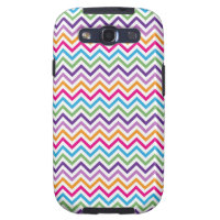 Bright Multicolor Chevron Print Samsung Galaxy S3 Covers