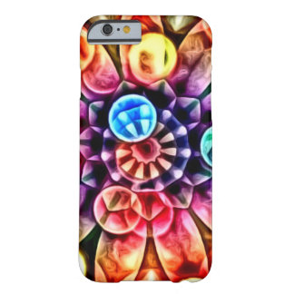 Bright Multicolor Flower Kaleidoscope Barely There iPhone 6 Case