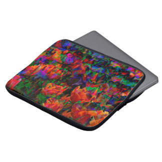 "Bright multicolored flowers 13"" sleeve laptop"