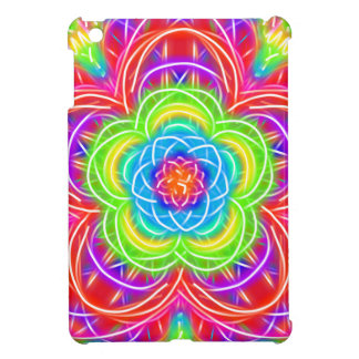 Bright Multicolored Kaleidoscope Flower Cover For The iPad Mini