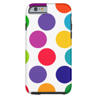 Bright Multicolored Polka Dots Pattern iPhone 6 Case