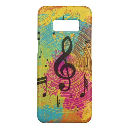 Bright Music Notes on Explosion of Color Case-Mate Samsung Galaxy S8 Case