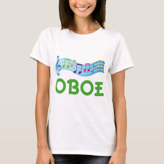 Bright Music Staff Oboe Gift T-Shirt