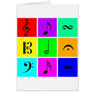 bright music symbols card