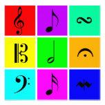 bright music symbols personalized announcements