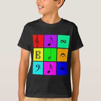 bright music symbols T-Shirt