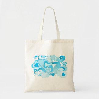 Bright My Blue Valentine Tote Canvas Bag