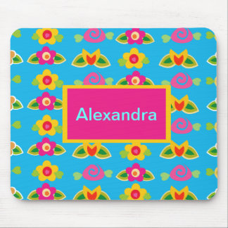 Bright-n-Cute Blossoms Mouse Pad