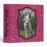 Bright N Sparkling Llama 3-Ring Binder