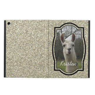 Bright N Sparkling Llama in Gold Champagne Case For iPad Air