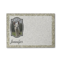 Bright N Sparkling Llama in Gold Champagne Post-it Notes