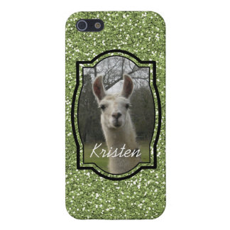 Bright N Sparkling Llama in Green Cover For iPhone SE/5/5s