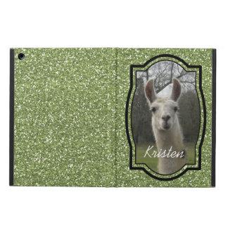 Bright N Sparkling Llama in Green iPad Air Cover