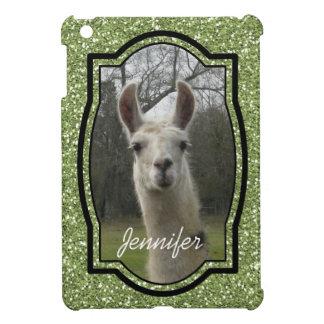 Bright N Sparkling Llama in Green iPad Mini Case