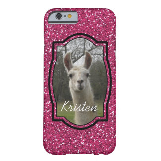 Bright N Sparkling Llama in Hot Pink Barely There iPhone 6 Case