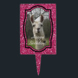"Bright N Sparkling Llama in Hot Pink Cake Topper<br><div class=""desc"">Meet Eve,  our farm&#39;s guardian llama. She&#39;s always certain to put a smile on everyone&#39;s face.</div>"
