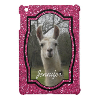 Bright N Sparkling Llama in Hot Pink Cover For The iPad Mini