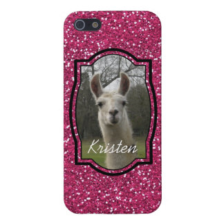 Bright N Sparkling Llama in Hot Pink iPhone SE/5/5s Cover