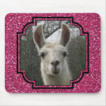 Bright N Sparkling Llama in Hot Pink Mouse Pad