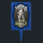 """Bright N Sparkling Llama in Royal Blue Cake Topper<br><div class=""""desc"""">Meet Eve,  our farm&#39;s guardian llama. She&#39;s always certain to put a smile on everyone&#39;s face.</div>"""