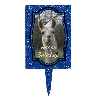 Bright N Sparkling Llama in Royal Blue Cake Topper