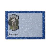 Bright N Sparkling Llama in Royal Blue Post-it Notes