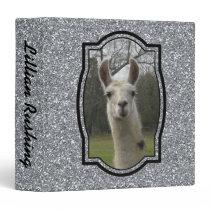 Bright N Sparkling Llama in Silver Binder