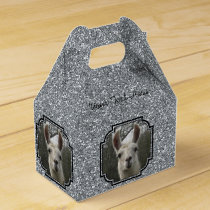 Bright N Sparkling Llama in Silver Favor Box