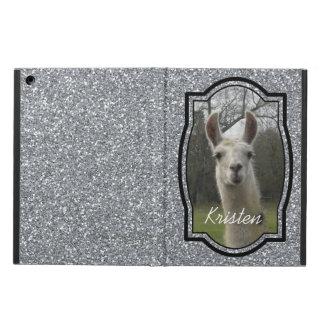 Bright N Sparkling Llama in Silver iPad Air Case