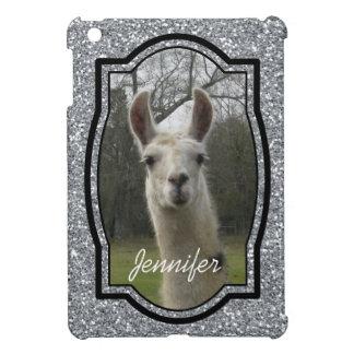 Bright N Sparkling Llama in Silver iPad Mini Covers