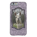 Bright N Sparkling Llama in Smokey Lavender Barely There iPhone 6 Case
