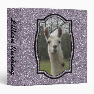 Bright N Sparkling Llama in Smokey Lavender Binder