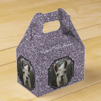 Bright N Sparkling Llama in Smokey Lavender Favor Box