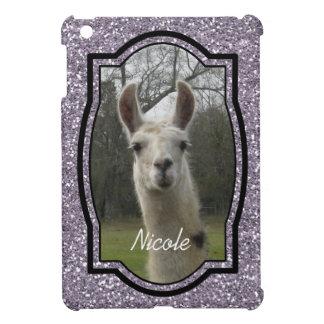 Bright N Sparkling Llama in Smokey Lavender iPad Mini Cover