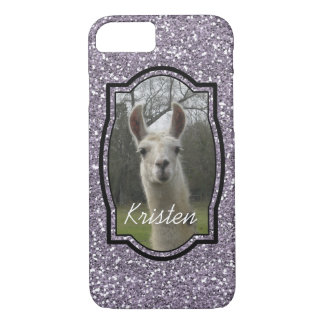 Bright N Sparkling Llama in Smokey Lavender iPhone 7 Case