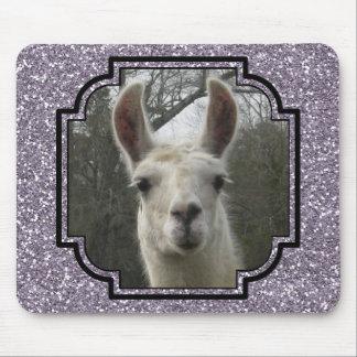 Bright N Sparkling Llama in Smokey Lavender Mouse Pad