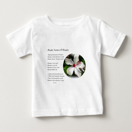 BRIGHT NATURE OF BEAUTY Hibiscus Design & poetry Baby T-Shirt