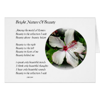 BRIGHT NATURE OF BEAUTY Hibiscus Design & poetry Card