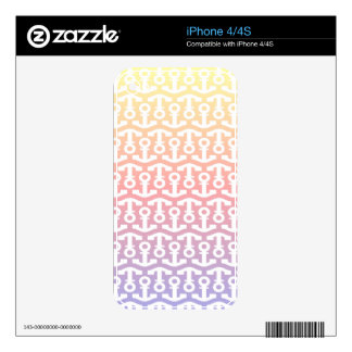 Bright Nautical Anchor Design Decals For The iPhone 4