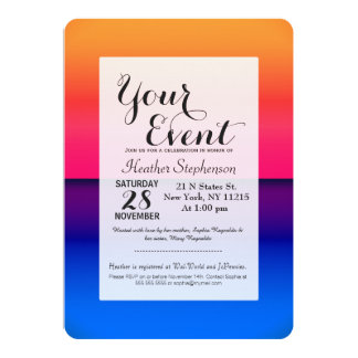 Bright Neon Abstract Sunrise Card